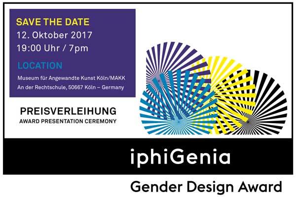 Grafische Darstellung mit Text zum Gender Design Award